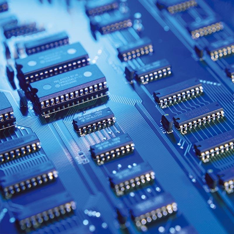 电子行业激光打码机喷码案例